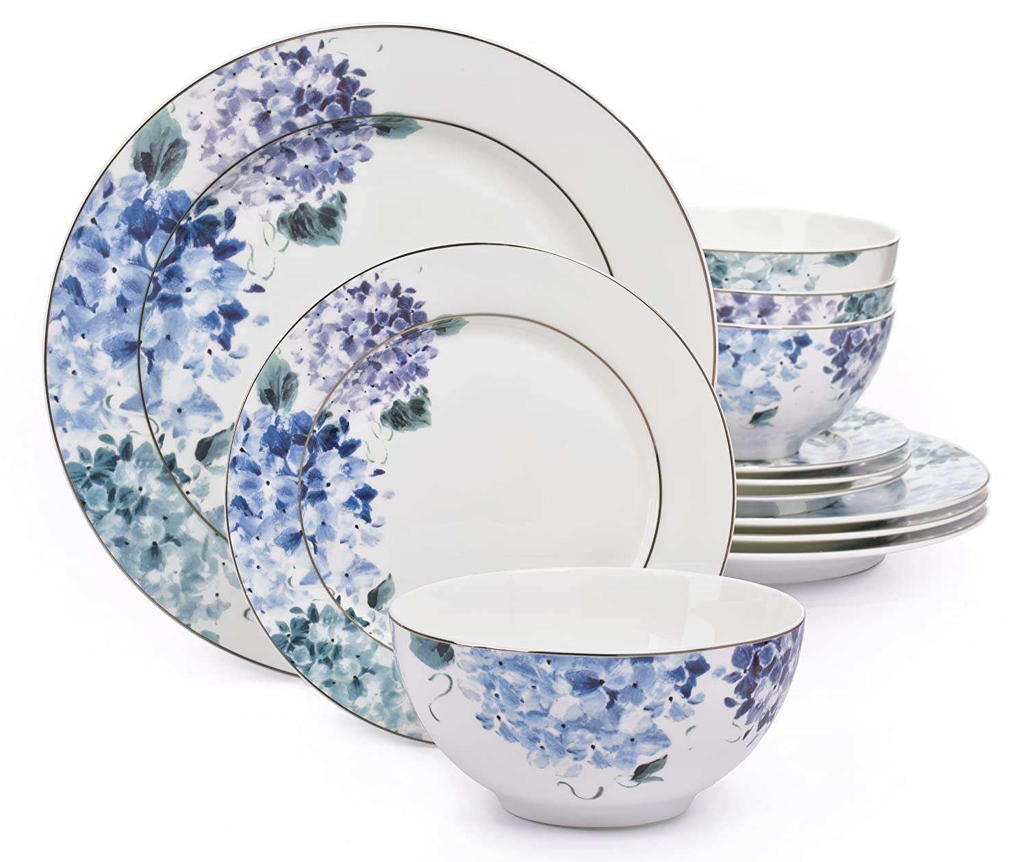 12 Piece Hydrangea Blue Bone China Dinner Set12 Piece Waterside Fine Bone China Dinner Set  Amazon co uk  . Fine Bone China Dinnerware Sets Uk. Home Design Ideas