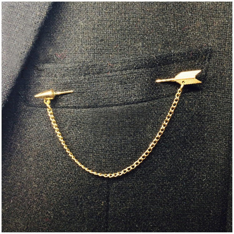 Amazon.com: Set of 2 Mens Arrow Pin Tuxedo Suit Brooch, Gold: Jewelry