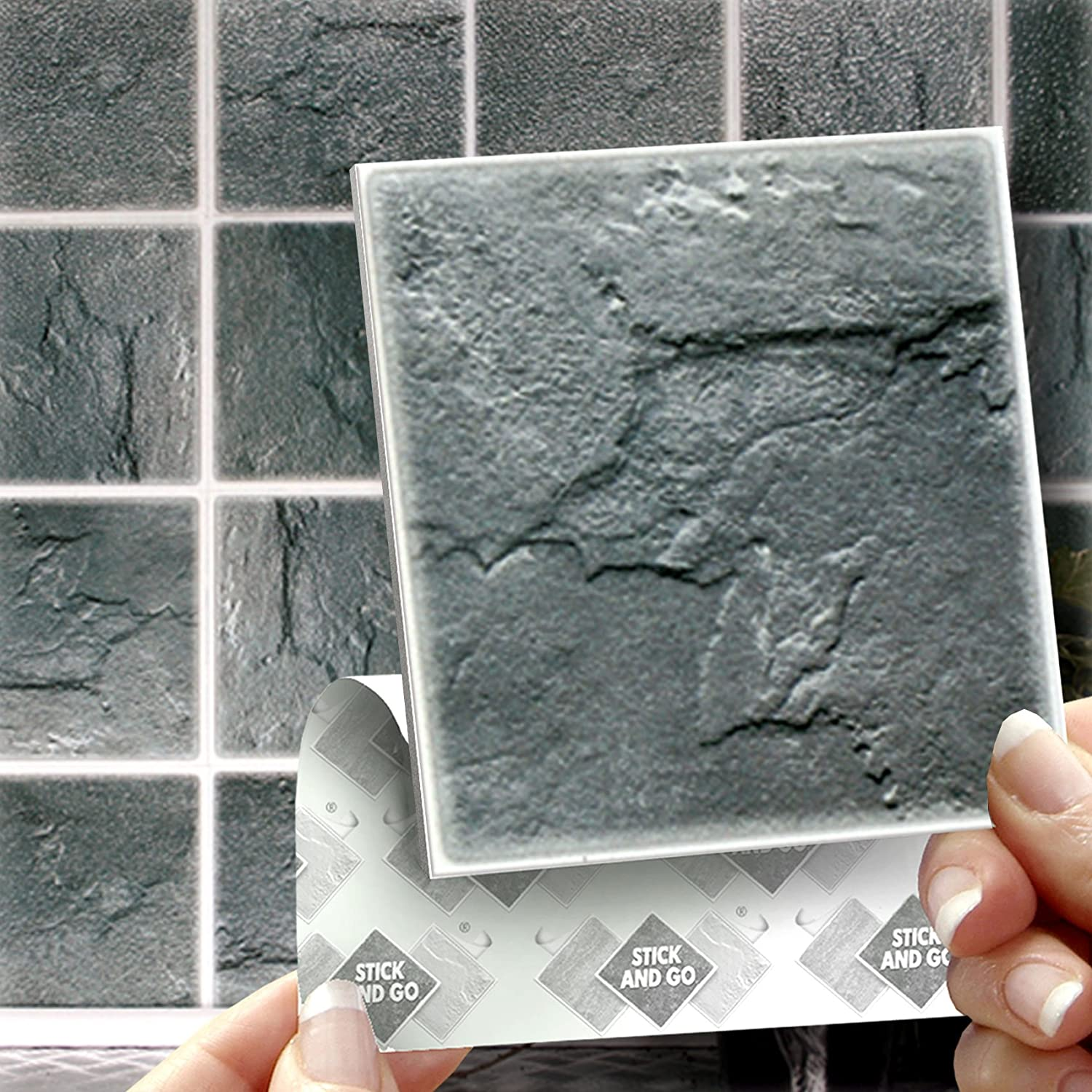 18 SLATE EFFECT WALL TILES - 2mm Thick and solid Self Adhesive ...