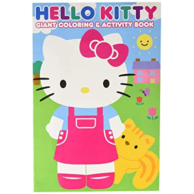 Hello Kitty 28027BW 11x16 Giant Coloring & Activity Book, Multicolor: Toys & Games
