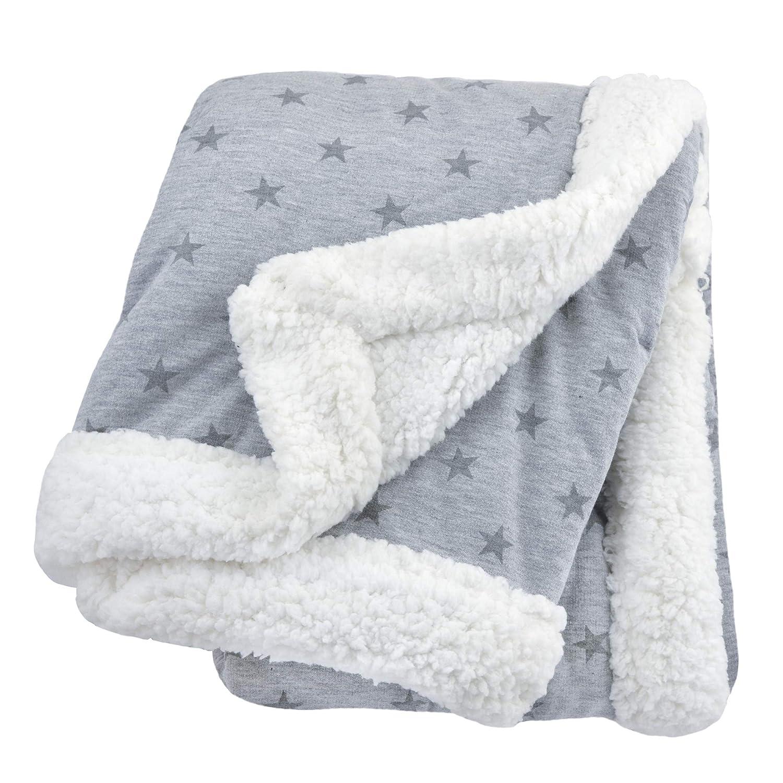 Amazon Com Just Born Boys And Girls Newborn Infant Baby Toddler Nursery Dream Super Soft Plush Receiving Swaddle Blanket Grey Stars One Size Baby