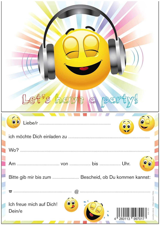 Bien connu Set of 6 Smiley Face Novelty Tablet Invitations for a Children's  NN59