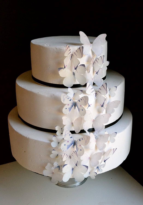 Amazon Edible Butterflies Set Of 30 Natural White Cake