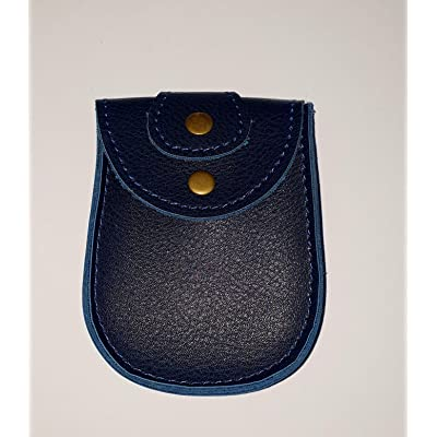 JYOS Leather Car/Bike Key Case, Remote Key Leather Pouch with Belt Loop (Blue): Office Products