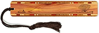 product image for Lone Tree with Country House Engraved Wooden Bookmark on Cedar with Tassel