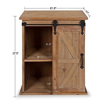 Amazon.com: Kate and Laurel Cates - Mesa auxiliar de madera ...