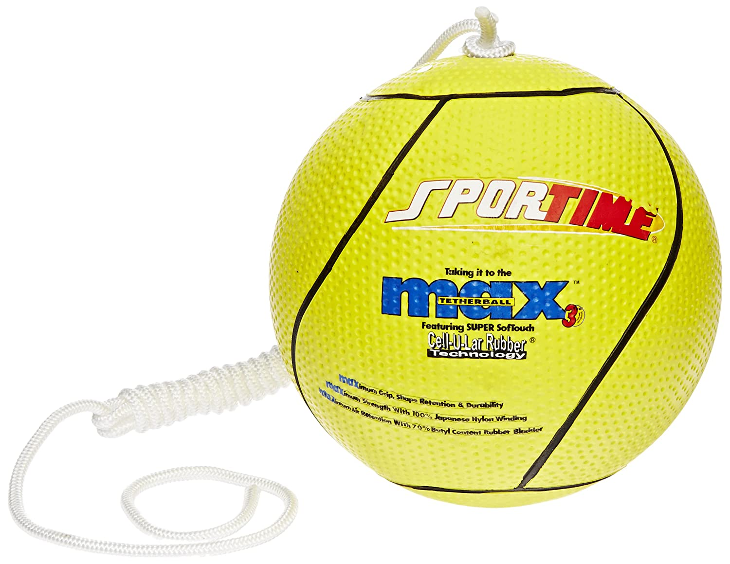 SportimeMax Tetherball, Yellow School Specialty 017062