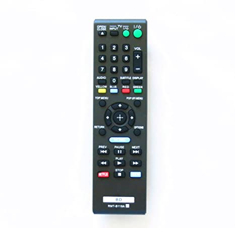 amazon com oem rmt b119a new remote fit for sony rmtb119a blu ray rh amazon com sony bd remote control cechzr1u manual sony ps3 bd remote codes