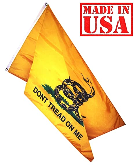 amazon com us flag factory 3 x5 gadsden flag don t tread on me us