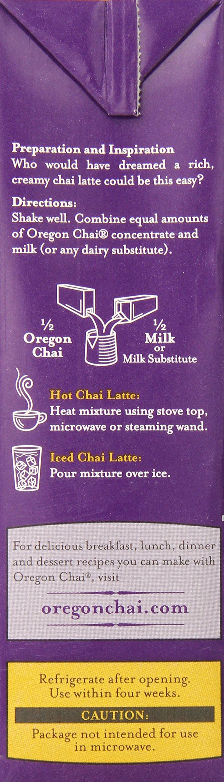 Oregon Chai Concentrate Original 32-Ounce Boxes (Pack of 6),  Liquid Chai Tea Concentrate, Spiced Black Tea For Home Use, Café, Food Service by Oregon Chai