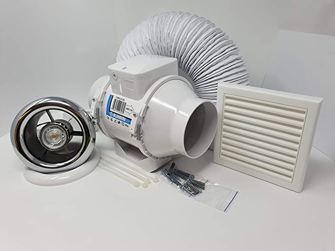 Blauberg UK Full Shower Fan Light Kit - Best Extractor Fan Kit