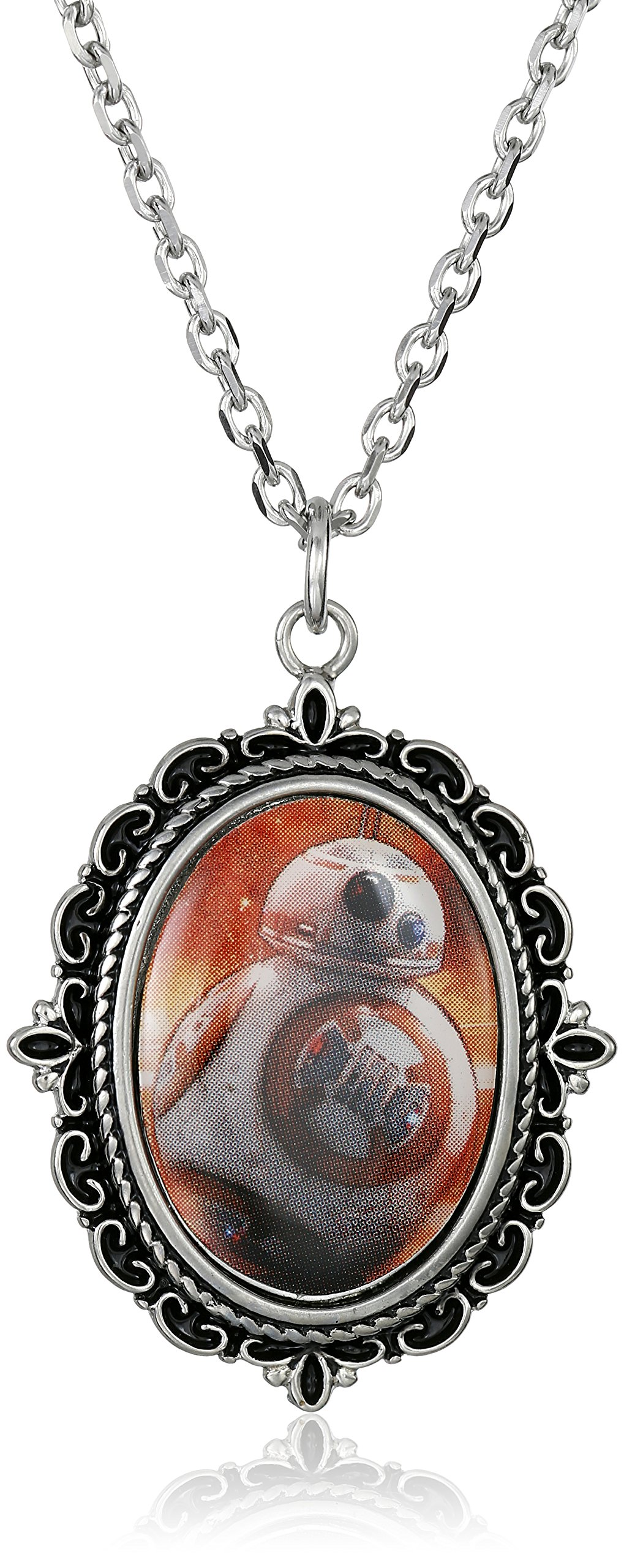 Star Wars Jewelry Star Wars Episode 7 Steel Cameo Pendant Necklace, 18''