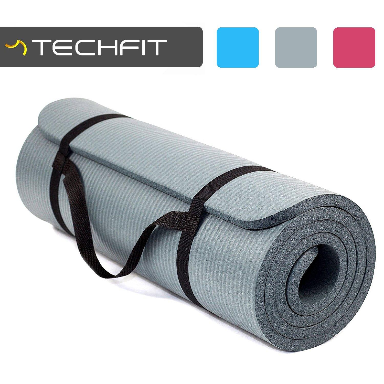 TechFit Colchón para Yoga y Fitness, Espesor Extra de 15 mm, 180 x 60