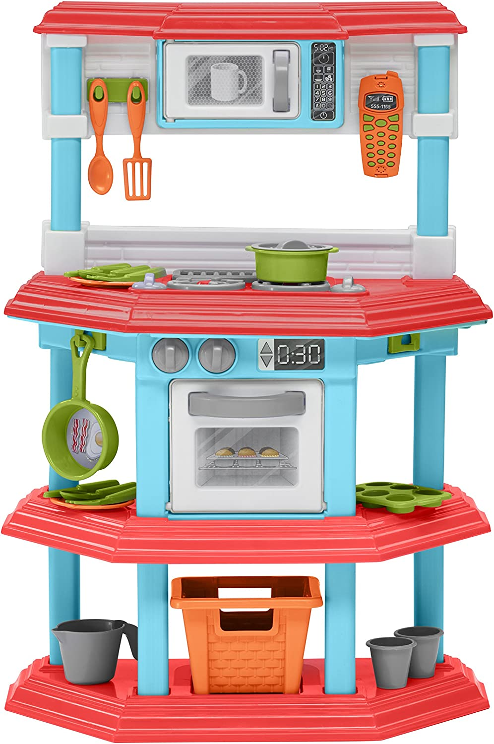 Amazon Com American Plastic Toys My Very Own Gourmet Kitchen Toys Games