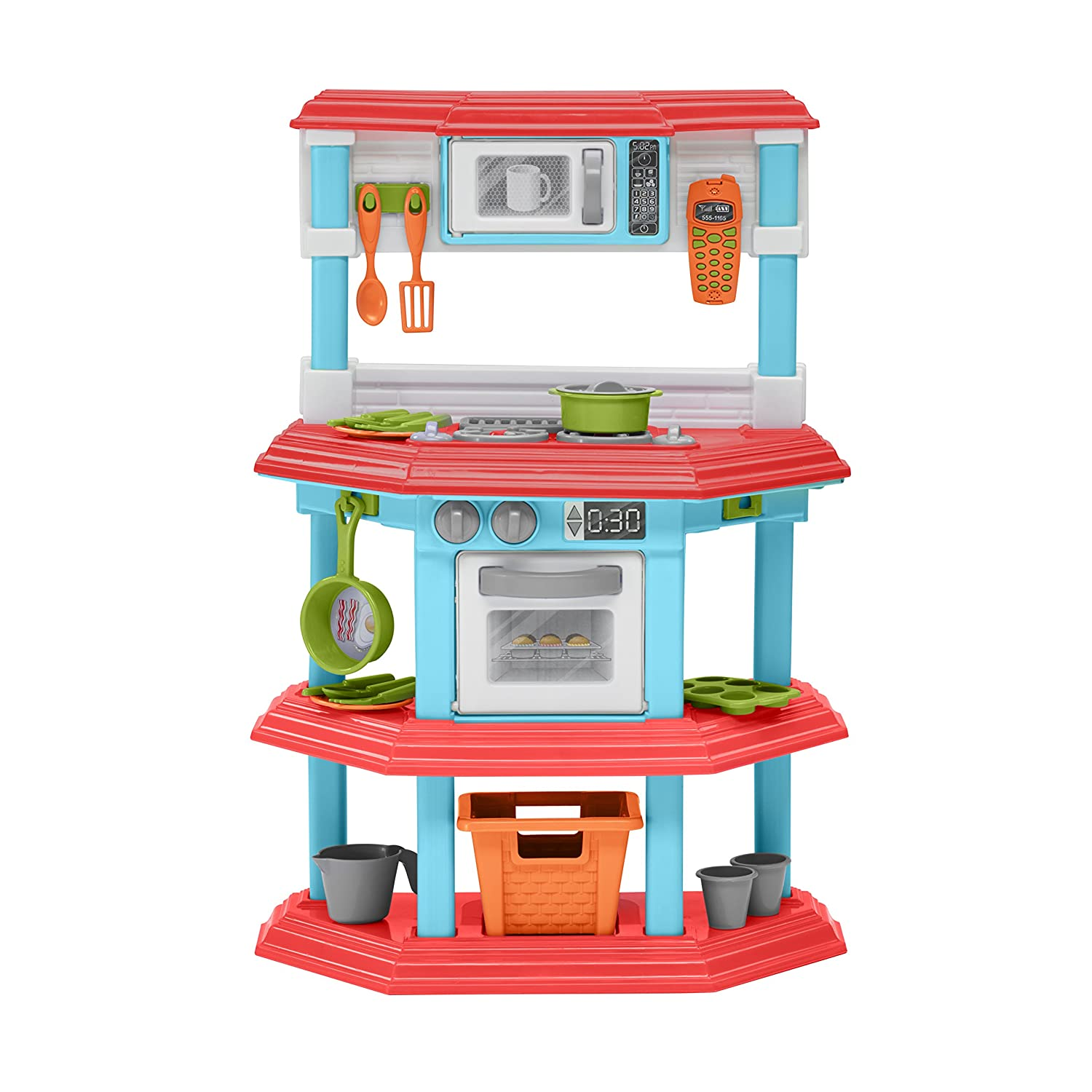 American Plastic Toys My Very Own Gourmet Kitchen Playset with 23 Accessories