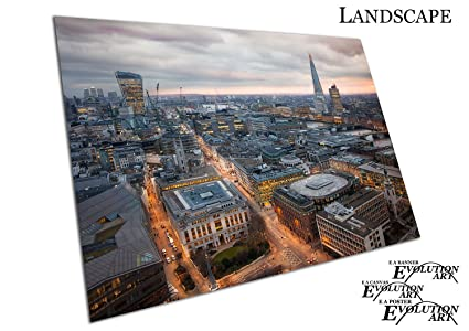 London City Skyline Landscape Poster Print T192 A4 A3 A2 A1 A0|