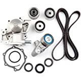 Compatible for 1998 1999 2000 2001 Kia Sephia//2000 2001 2002 2003 2004 Kia Spectra OCPTY Timing Belt Kit Including Timing Belt Water Pump with Gasket tensioner Bearing etc