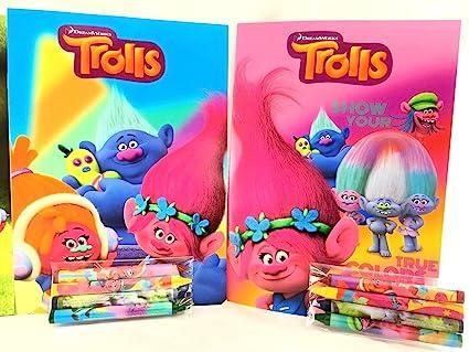 Amazon.com: Party Favors trols libro para colorear y ceras ...