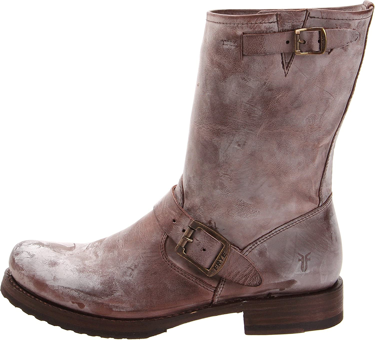 Frye Womens Veronica Short Boot Dark Brown Burnished Antiqued Cut Engineer Shoes Safety Boots Iron Suede Leather Black 9 M Us Buy Online At Low Prices In India