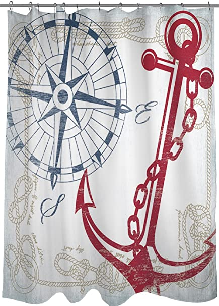Superieur Manual Woodworkers U0026 Weavers Shower Curtain, Anchors Away White