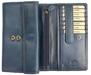 da14d0877110f Hill Burry hochwertige große Vintage Leder Damen Geldbörse Portemonnaie  Portmonee Frauen Geldbeutel aus weichem Leder mit