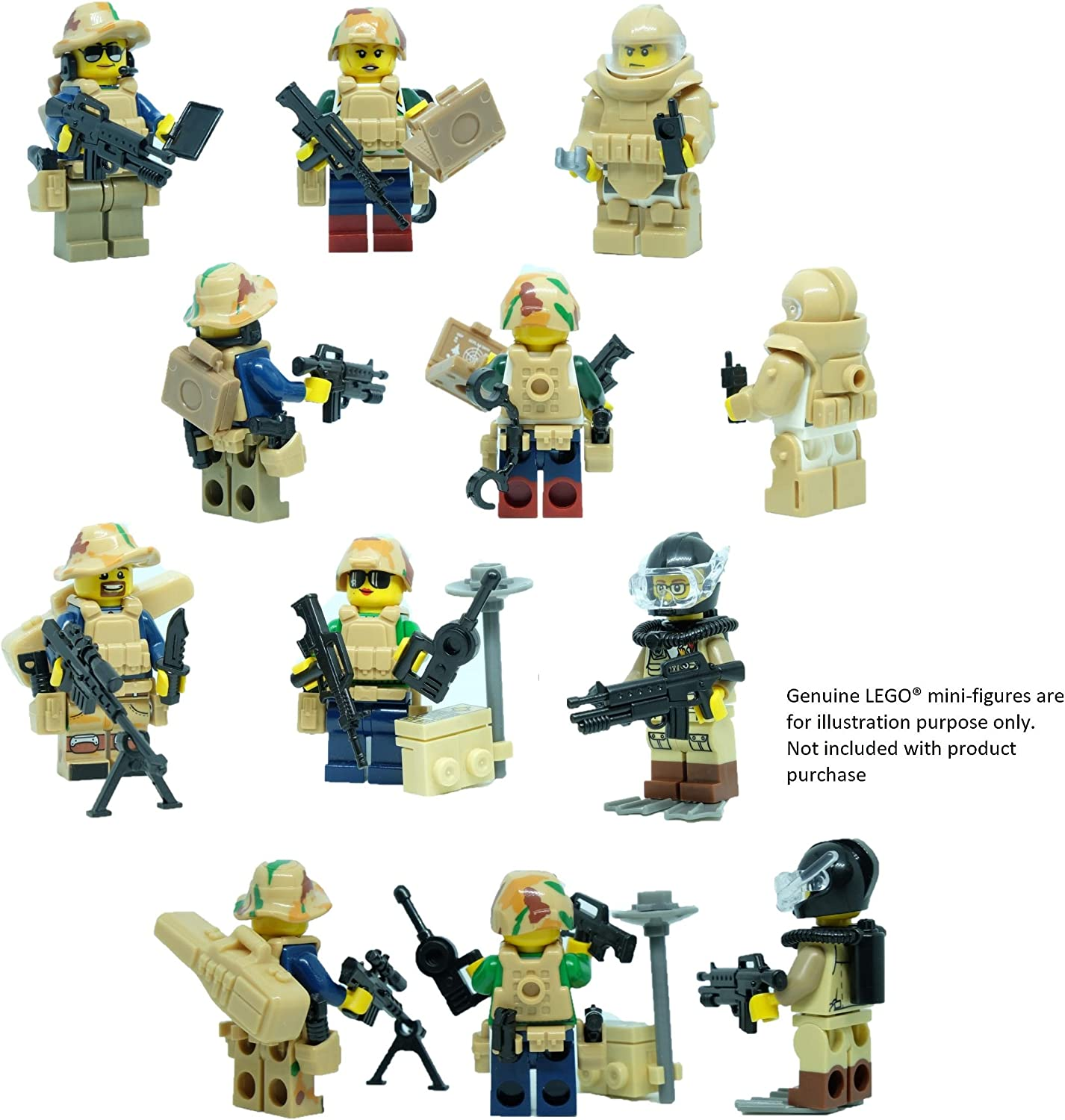 22Pcs Minifigures Army Infantry china Soldiers /& Horses Officer Weapons LeGo MOC