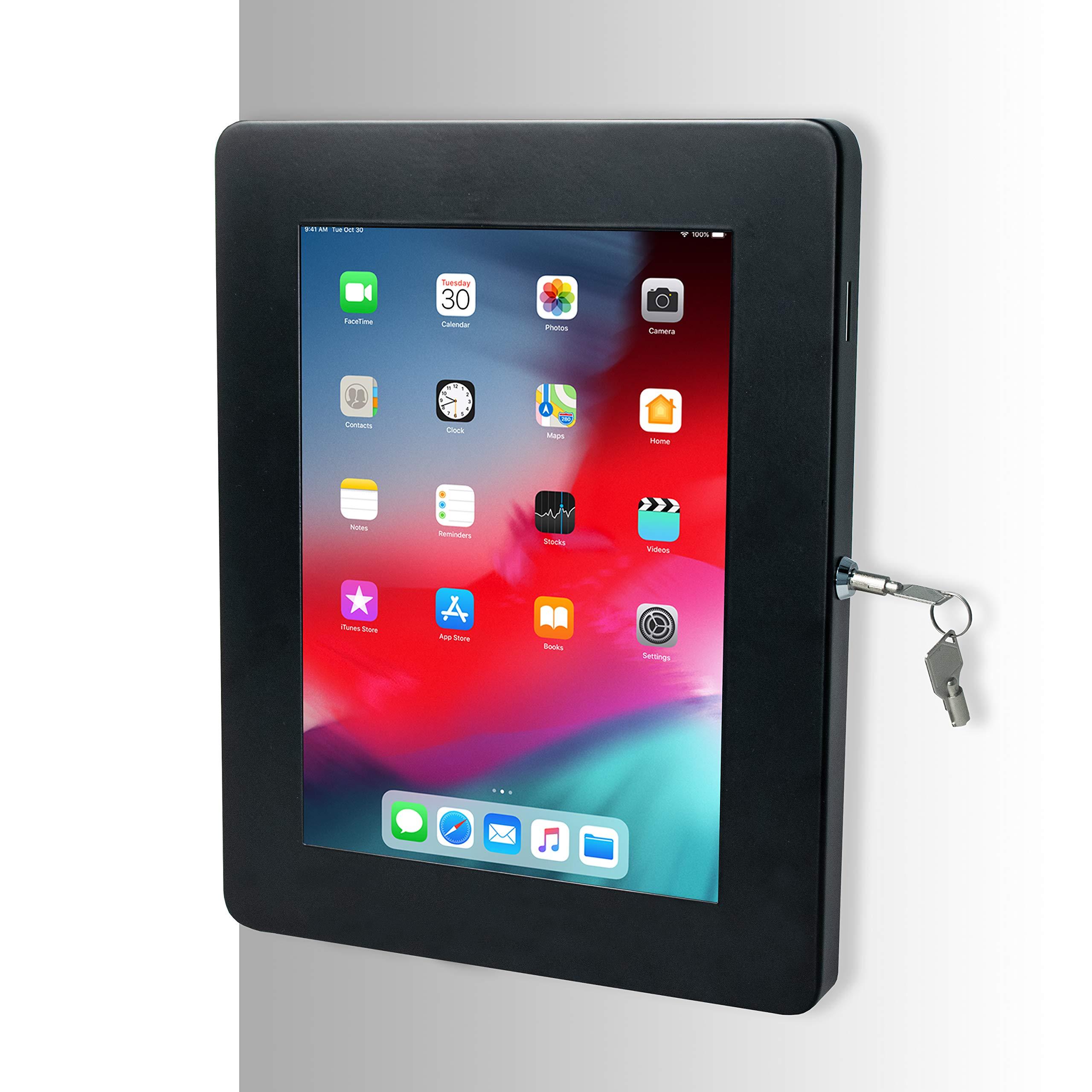 CTA Digital Premium Locking On-Wall Flush Mount for iPad Air 3 (2019), iPad Gen. 6 (2018), Galaxy Tab S3 9.7'', and More (PAD-PARAW)