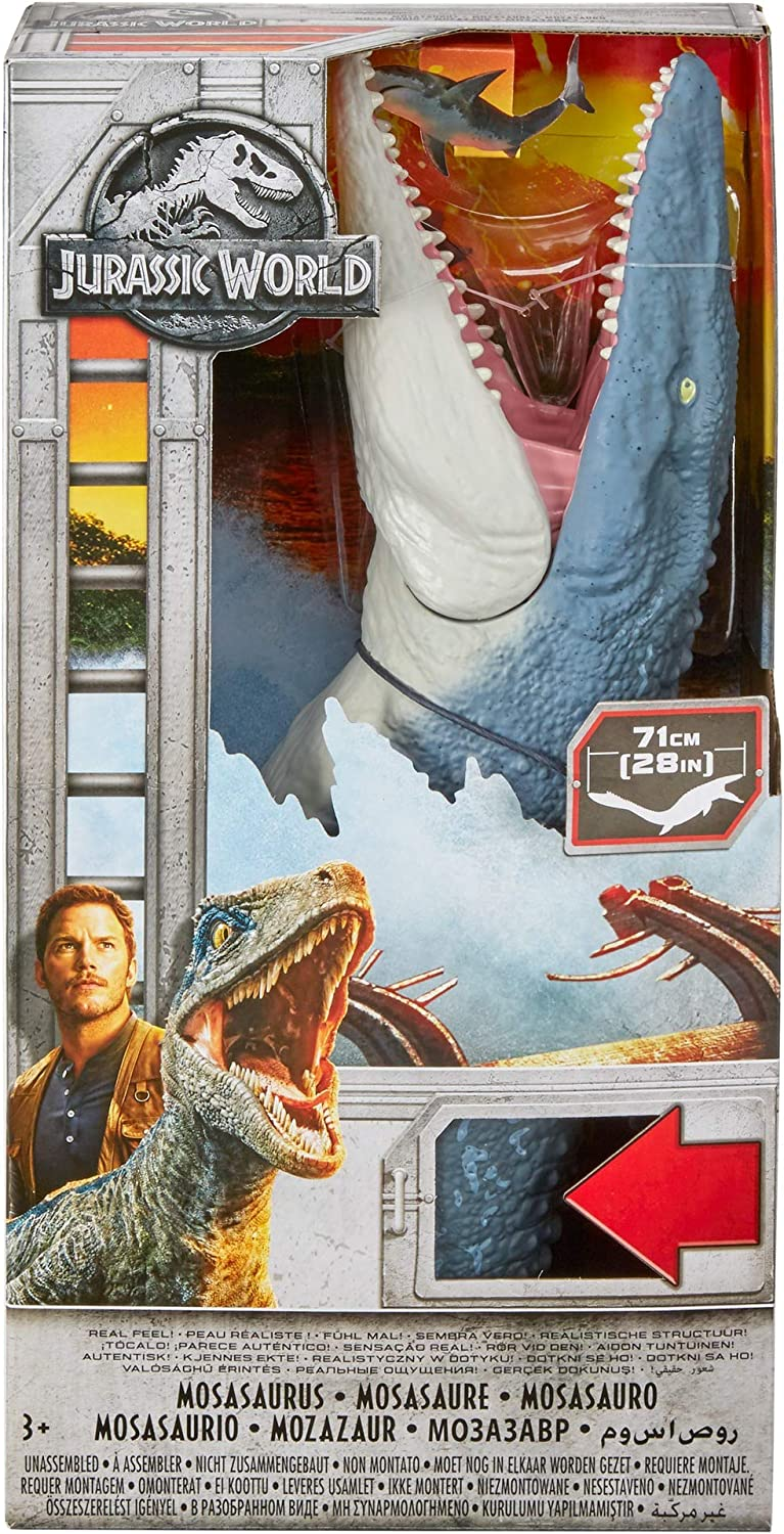 Mosasaurus Dinasour Toy For Kids Real Feel The Skin And Realistic Sculpting 71CM