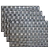 Amazon Price History for:Placemats, Heat-resistant Placemats PVC Placemats Woven Vinyl Placemats Stain Resistant Anti-skid Non-slip Table Mats,Set of 4(Grey+gold)