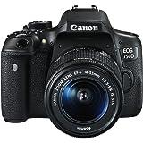 """Canon EOS 750D - Cámara réflex digital de 24.2 MP (Kit con objetivo EF-S 18-55 mm f/3.5-5.6 IS STM, pantalla de 3"""", 1080 p, WiFi estabilizador óptico, vídeo Full HD), color negro (versión española)"""