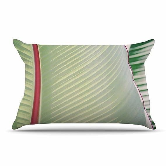 Kess InHouse Ann Barnes Sage Green Red Photography 40 x 20 Pillow Sham 40 x 20 Pillow Sham AB2059ACS02