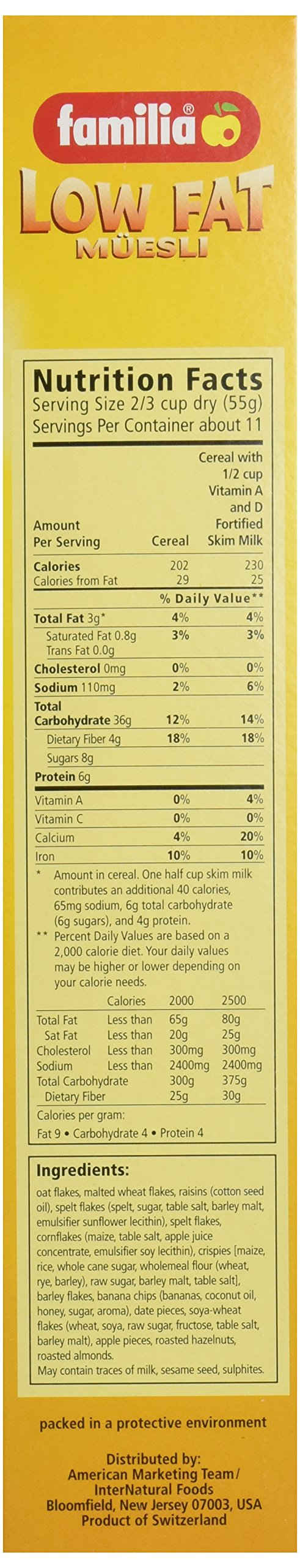 Familia Low-Fat Muesli Cereal, 21-Ounce Box (Pack of 6) by Familia (Image #4)
