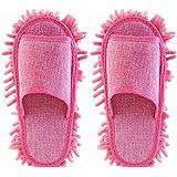 FENICAL Women Slipper Microfiber Floor Cleaning Mop Ladies Slippers (Pink)