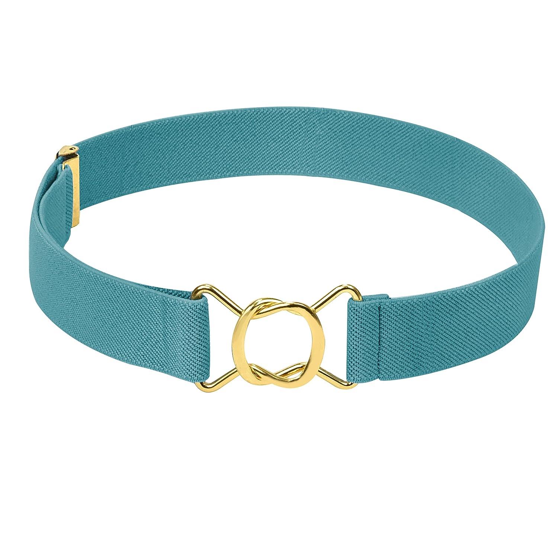Hold/'Em Kids Toddler Clasp Gold Buckle Belt-Beige//White Striped
