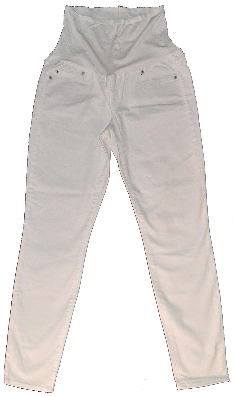 0785896ae4eea GAP Maternity White Denim Authentic True Skinny Full Panel Jeans 10 at  Amazon Women's Clothing store: