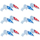 Liberty Imports World's Smallest Space Guns | Mini Laser Light Up Flashing Ray Blasters with Retro Sound Effects | Ideal for Kids Bulk Party Favors (12 Pack)