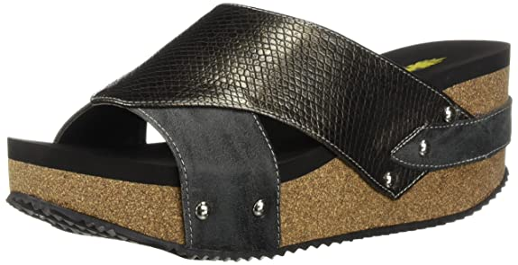 Volatile Women's Warwick Wedge Sandal, Pewter, 7 M US