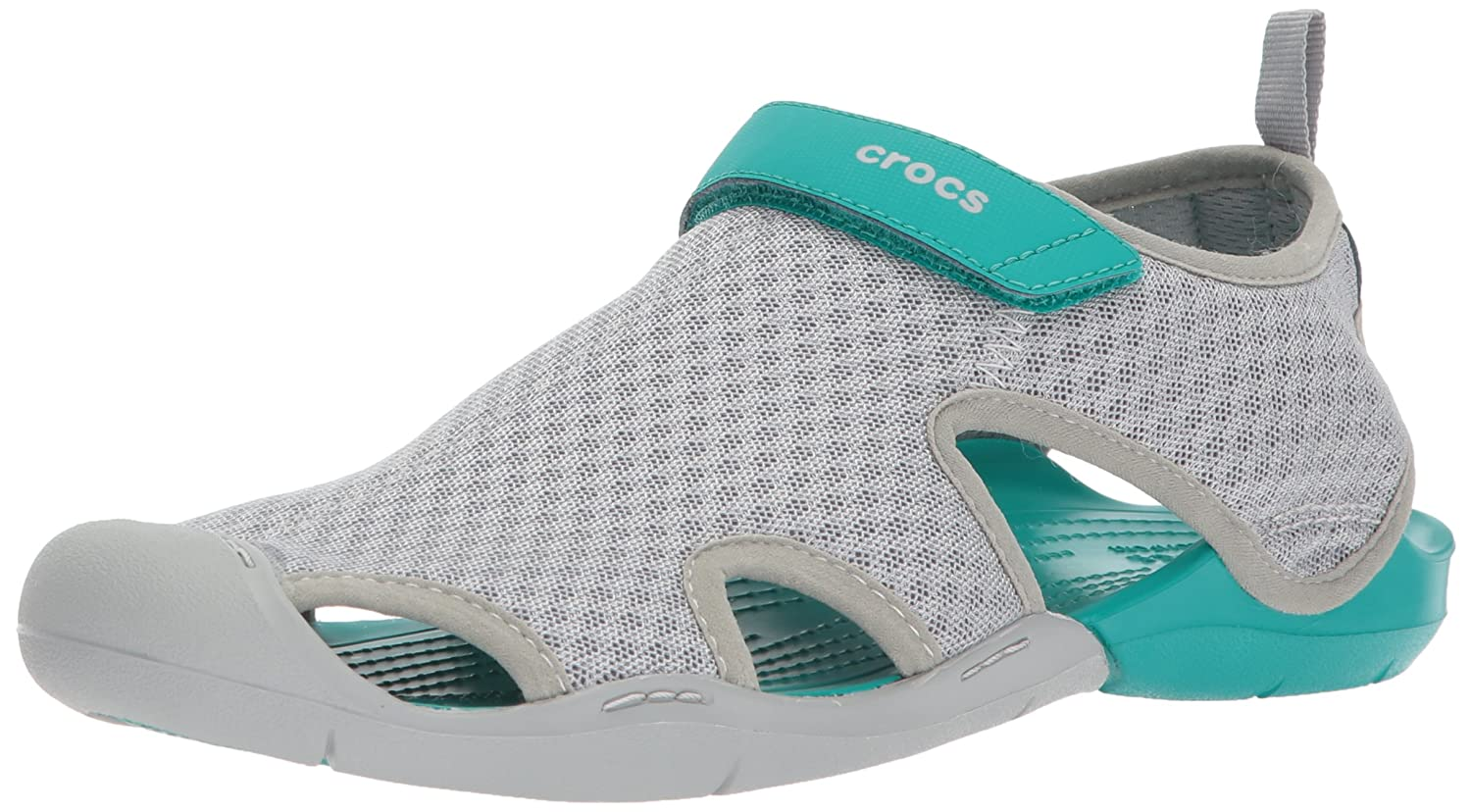 Crocs Women's Swiftwater Mesh Sandal B072J4RGR1 6 B(M) US|Light Grey
