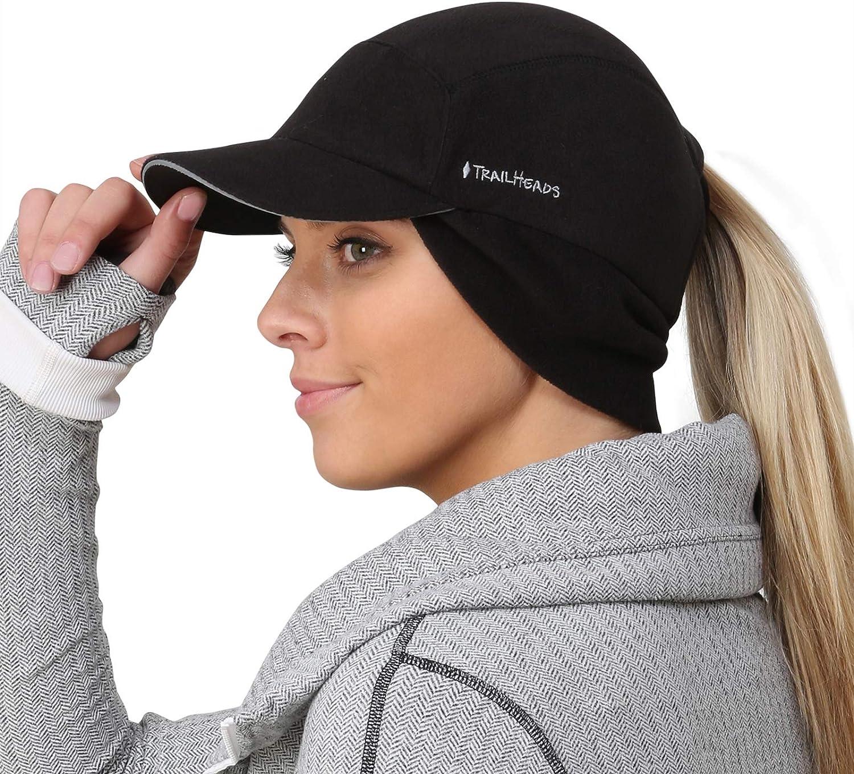 TrailHeads Women's Trailblazer Adventure Ponytail Cap, Black, One Size at  Women's Clothing store