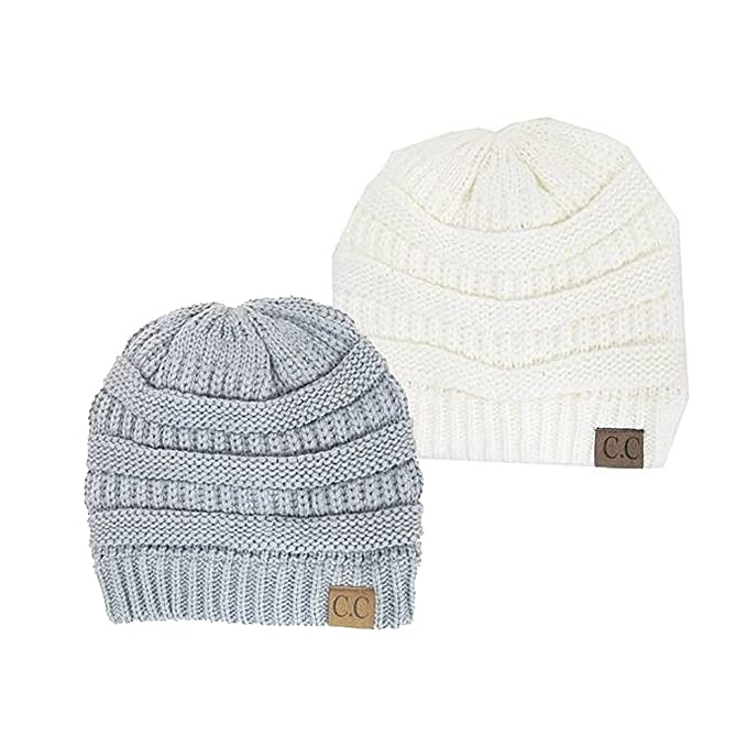 94779ec2380844 Image Unavailable. Image not available for. Color: Trendy Warm Chunky Soft  Stretch Cable Knit Slouchy Beanie Skully ...