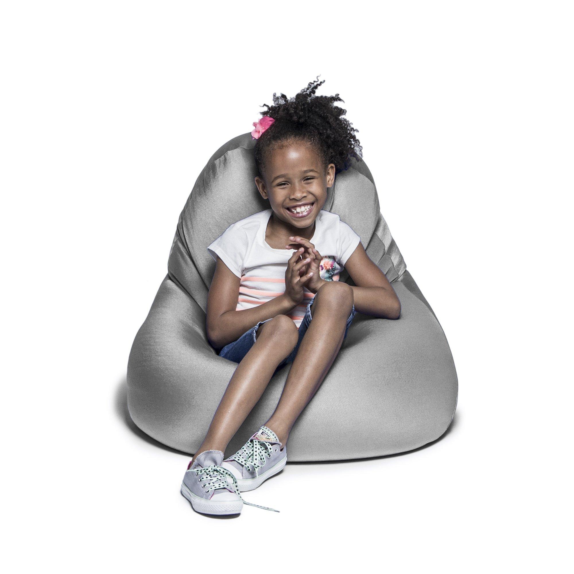 Jaxx Nimbus Spandex Bean Bag Chair for Kids, Silver