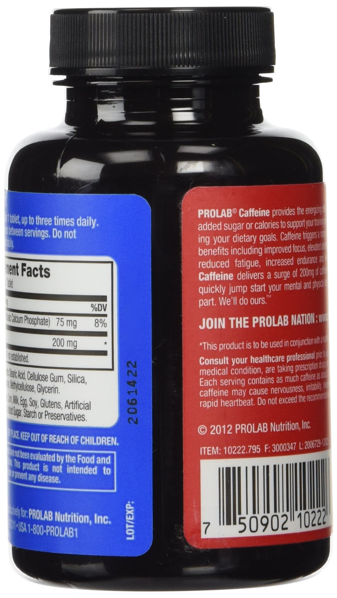 ProLab Caffeine Pills Energy and Focus: (3) 100-Count Bottles (200 mg) by ProLab (Image #5)