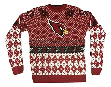 klew nfl arizona cardinals ugly christmas sweater small