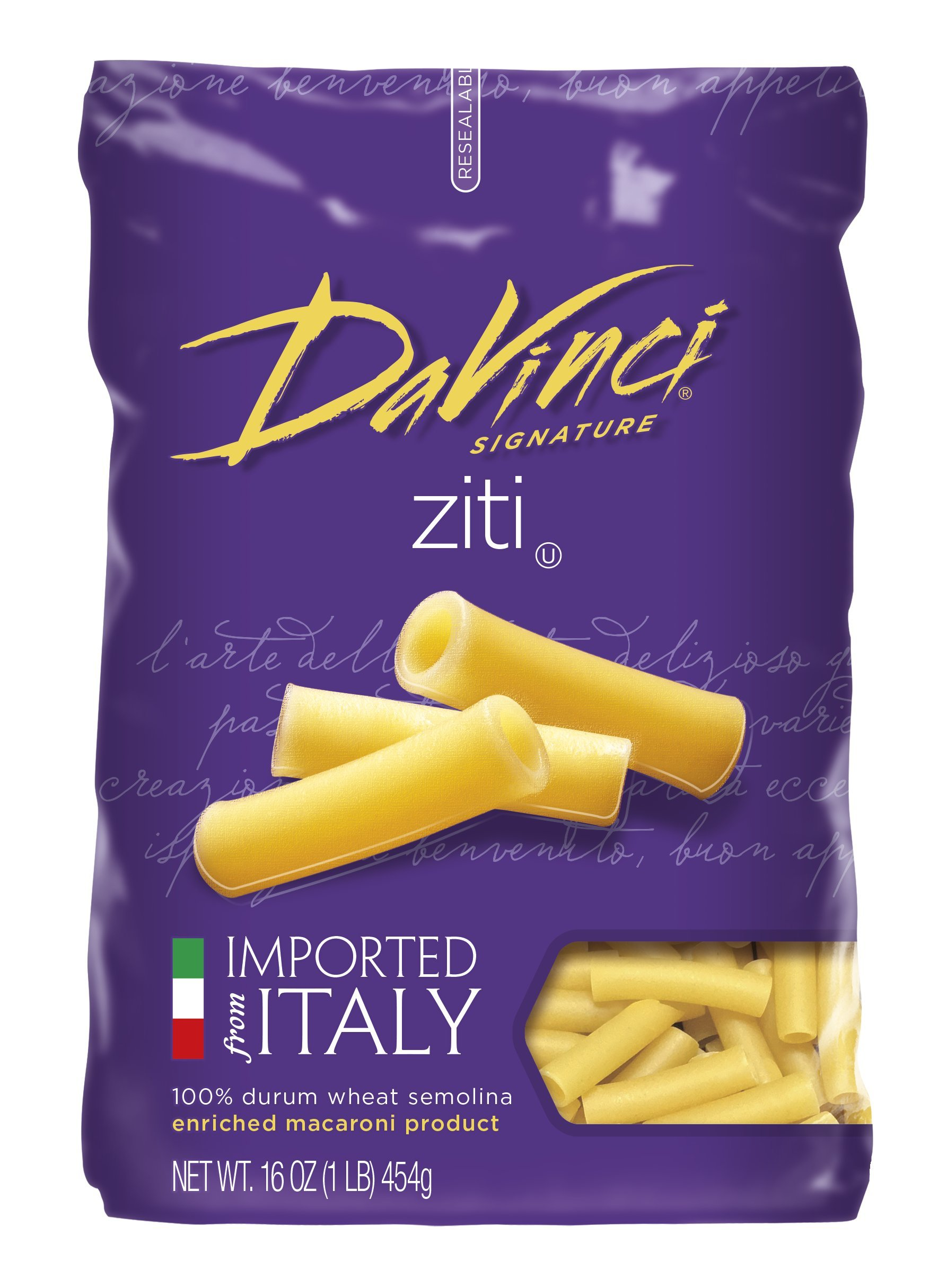 DaVinci Cut Ziti, 16-ounces (Pack of12)