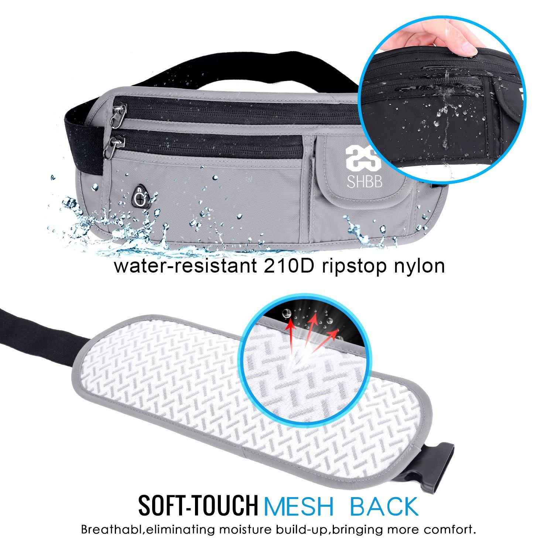 /resistente all acqua Shubb marsupio waist Packs per donne uomini Slim marsupio denaro per viaggio corsa/ /vita 50,8/cm a 127/cm/