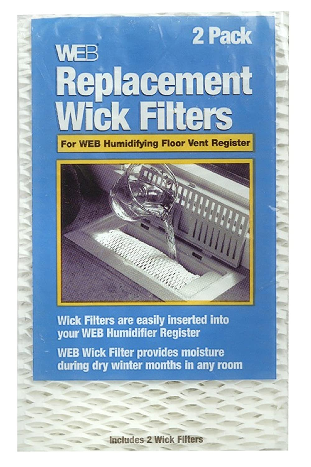 Amazon.com: WEB Humidifier Register Replacement Wick Filters, 2 Pack: Home  Improvement