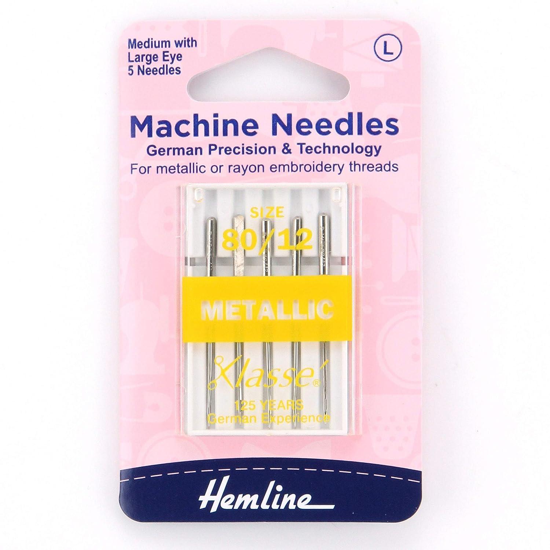 Medium Metallic Machine Needles 80//12