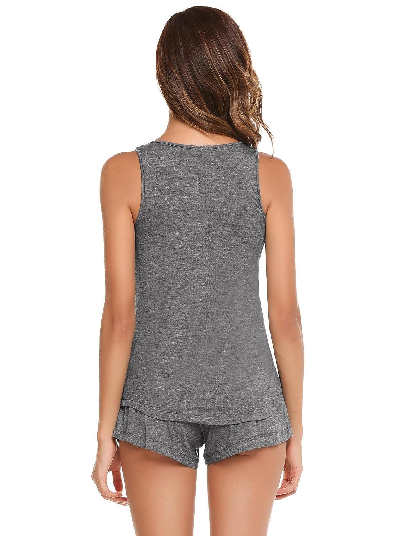 Lamore Womens 2 Pieces Tops and Pants Pajamas Short Ladies pj Sets at Amazon Womens Clothing store: