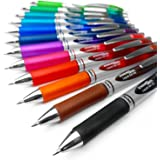 Pentel EnerGel XM BL77 - Retractable Liquid Gel Ink Pen - 0.7mm - 52% Recycled - Pack of 12 Mixed Colours