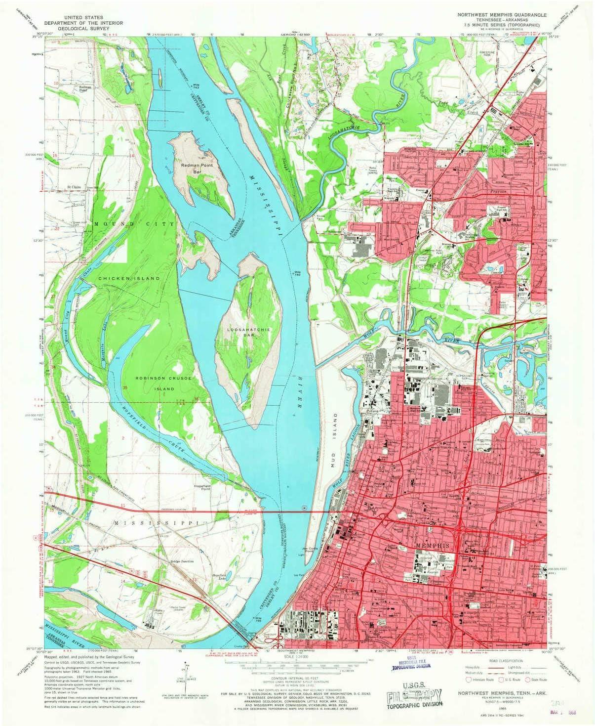 Amazon.com : YellowMaps Northwest Memphis TN topo map, 1 ...